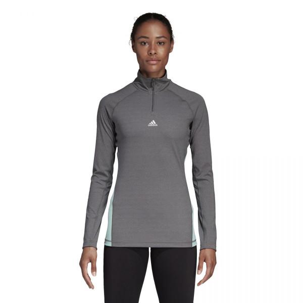 Dámské tričko adidasPerformance W LIN 1/4 ZIP - foto 0