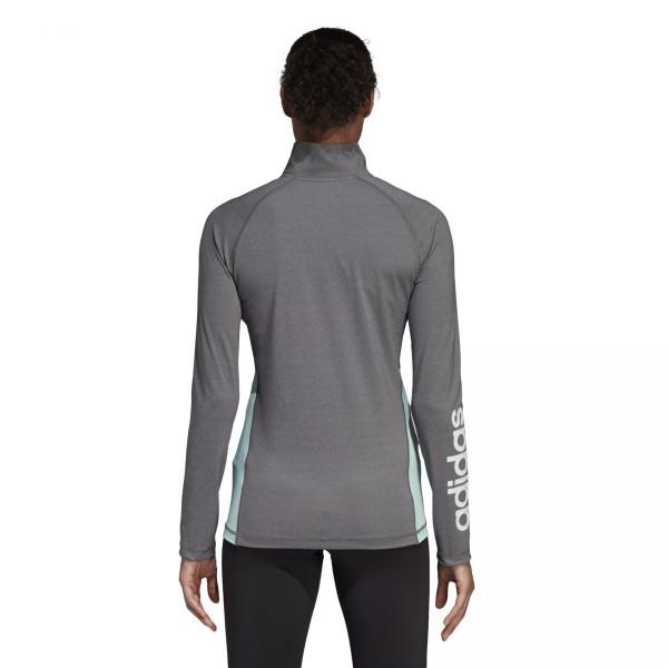 Dámské tričko adidasPerformance W LIN 1/4 ZIP - foto 3