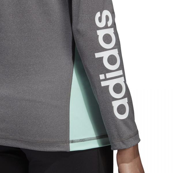 Dámské tričko adidasPerformance W LIN 1/4 ZIP - foto 5