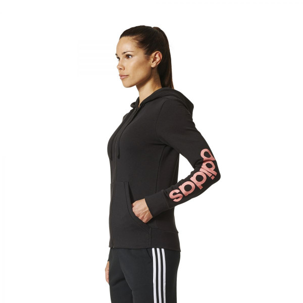Dámská mikina <br>adidas Performance<br> <strong>ESSENTIALS LIN FZ HD</strong> - foto 1