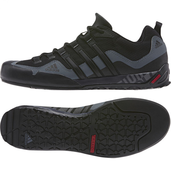 Outdoorové boty adidas Performance TERREX SWIFT SOLO (BLACK1/BLACK1/LEAD)